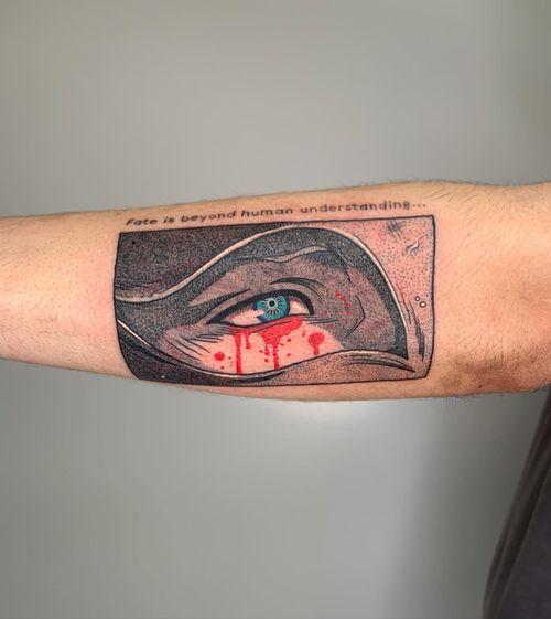 tattoo by galen bryce #galenbryce #anime #manga