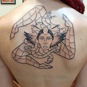 Mosaic Tattoo - Trinacria (first step)