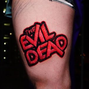 the evil dead embroidery tattoo