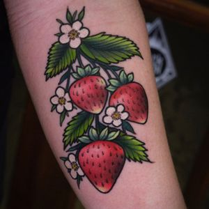 cute vibrant strawberries by our artist Charlie 🍓