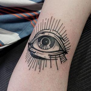 Eye. 🌑 #blacktattoos