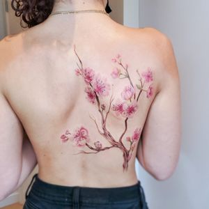 #cherryblossoms #inked #tattoosbysherri #tattooideas #inkspiration #filipinoartists #watercolor #watercolortattoo