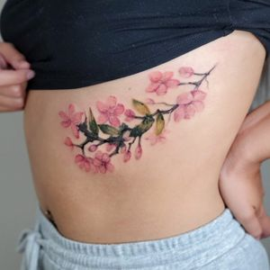 #coverup #cherryblossoms #watercolor #watercolortattoo #florals #tattoosbysherri #filipinoartists