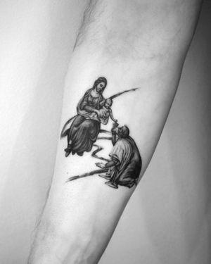 The birth of Christ by Leonardo da Vinci🔘 @torocsikartroom . . . #tattooed #tattoo #inked #inkedmag #tattooedmag #art #artist #tattooist #tattooartist #budapest #bp #budapestattoo #bdfcknpst #budapesthungary #daily #dailytattoo #tattoodesign #davidstatue #michelangelo #creator #geometrictattoo #geometric #fineline #finelinemag #blackwork #microtattoo #microrealism #finelinetattoo #microportrait #portraittattoo #tattoodo #davinci