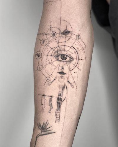 seeking truth #tattoo #singleneedletattoo #finelinetattoo #microtattoo #conceptualtattoo