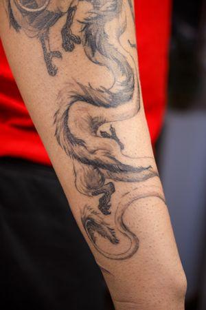 Haku close up detail #fineline #studioghibli #miyazaki #spiritedaway #dragon