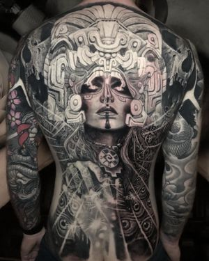 Back nearly completed. Inspired by inter dimensional a travel  #tattoo #tattoodo #tattooartist