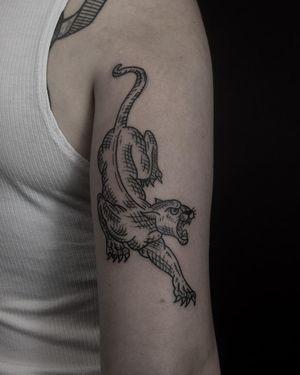 Crawling panther by Burak Moreno.