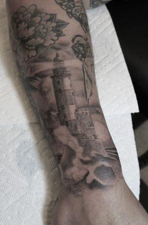 Light house tattoo