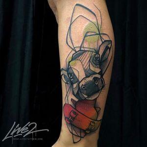 Tattoo by the burning eye