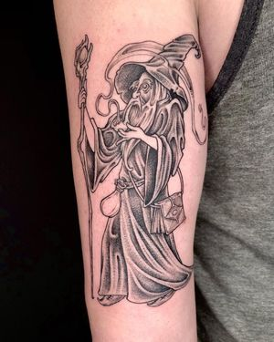 Wizard on back of upper arm.
