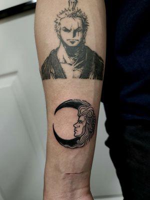 Custom moon tattoo #clydelaudato #moontattoo