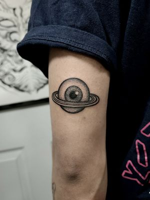 Planet eye #clydelaudato #planettatoo #eyetattoo