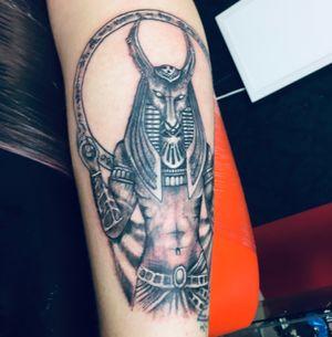 Horus Egyptian tattoo calf