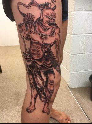Japanese warrior god protector