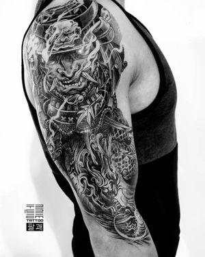 """Dragon"" and completely healed upper part - Hannya. - Part 2 for Daniel - #тату #дракон #trigram #tattoo #dragon #inkedsense"