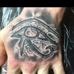 Eye of Horus Egyptian on hand
