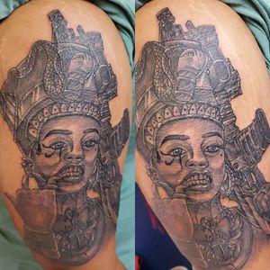 Black egyptian Goddess with Ak