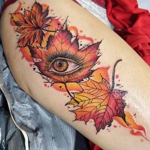 Custom Autumn leaves piece