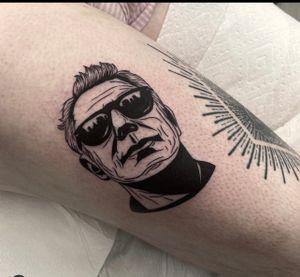 Tattoo by Miss Vampira aka Mary Minahan #MissVampira #MaryMinahan #AnthonyBourdain #portrait #blackwork