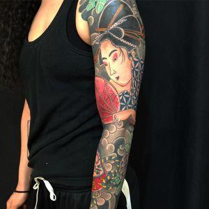 Beautiful arm sleeve. #japanese #sleeve #irezumi #nyc
