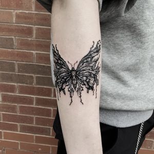 Tattoo inquiry via DM or email:) . #butterflytattoo #uktattoo #ukart #uktta #londontattoo #birminghamtattoo #middlesbroughtattoo #darkornaments #darkartists #blackworkers #blacktattooart #blackworktattoos #btattooing #blxckink #blacktattoos #thedarkestwork #onlyblackart #onlythedarkest #blackworkersubmission #tattoowork #tttism #blkttt #artinkpaint #ink_bw #blackworknow #sketchandart #tattooideas #flashwork #artesobscurae