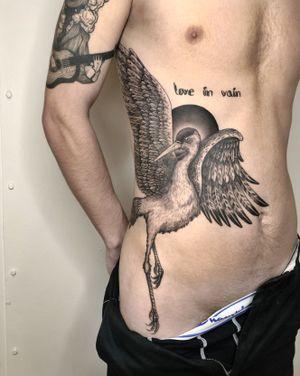 Another large scale piece! Let's do more of this. #copenhagen #black&grey #birds #birdtattoos