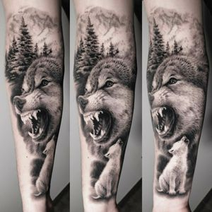 Healed #wolf #wolftattoo #blackandgreytattoo #inkart #firsttattoo #fkirons
