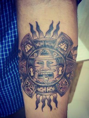 Mayan tattoo .