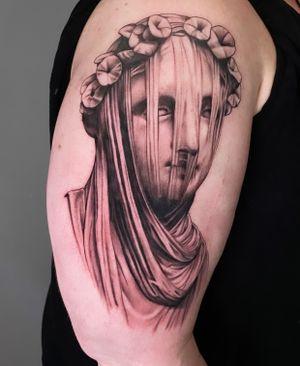 Veiled lady start of full sleeve