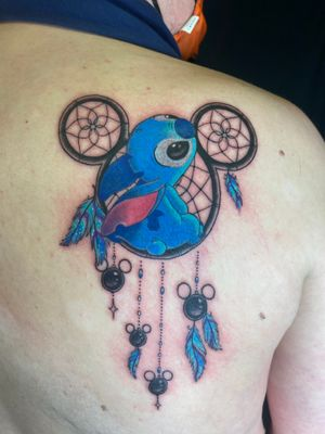 Who else loves Stitch!! This was my client's first ever tattoo!! He sat through this beautifully!