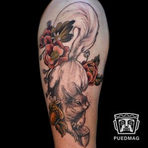 Neotraditional tattoo done by Viridiana Aranda