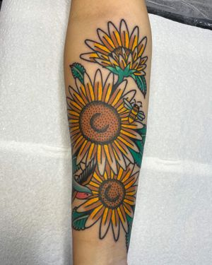 Sunflowers and friends