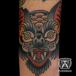Traditional tattoo done by Gokce Korkmaz