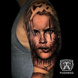 Chicano tattoo done by Ashan Herrera