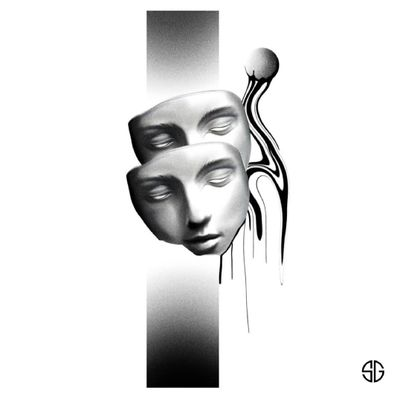 • Faces • custom blackwork piece by our resident @o.s.c.r.tttst Books/Info: 👉🏻@southgatetattoo • • • #faces #masks #masktattoo #facetattoo #southgatetattoo #sgtattoo #sg #customtattoo #blackwork #blacktattoo #dotworktattoo #dotwork #londontattoo #londontattoostudio #dotworktattoo #dotwork #london