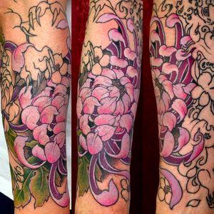In progress sleeve, lower arm