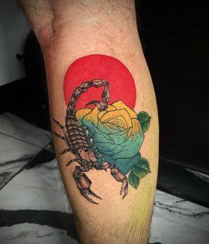 Geometric Scorpion and Rose