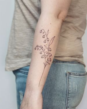 Nothingwild • Paris 🌙 Baby bluebell flowers tattoo