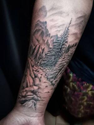 Mountain trail, I love making nature related tattoos.
