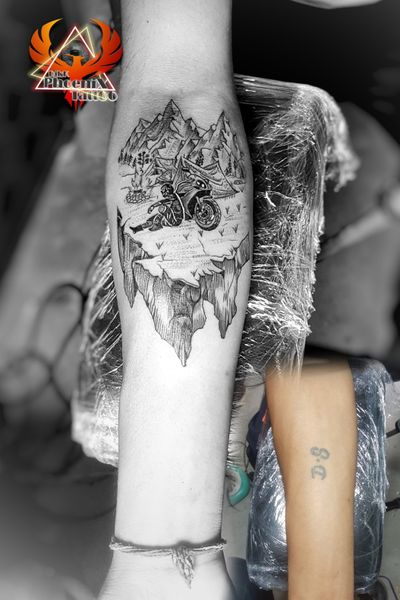 #DS #covertattoo #by #new #customtattoo #design #mountains #rider #r15 #sports #bike #bikelife #bikemagazine #tattoo #motorcycle #ridersofinstagram #hill #hillstattoo #mountaintattoo #tattoooftheyear #inkedboy #tattooideas #creativity #forearm #coverup #tattoomodification #modification #camping #3dtattoo #chandigarhtattoo