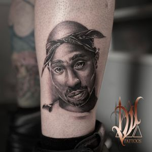 Did this 2pac piece yesterday, more to come