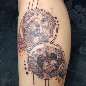 Dogs #dotwork #realism