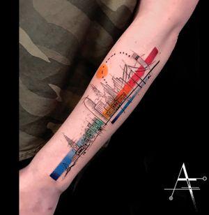 🏙 #sanfrancisco #skyline . For custom designs and booking; alperfiratli@gmail.com . . . . . #geometrictattoo #colorful #colortattoo #colorfultattoo #tattooartist #tattooidea #ink #skyscrapers #skyscraper #sanfranciscotattoo #cityscape #surreal #surrealism #sftattoo #abstracttattoo #watercolortattoo #bayarea #bayareatattoo #pridemonth #skylines #bayareatattooartist #abstractart #surrealtattoo #surrealart #rainbowtattoo #sanfranciscobay #watercolor #sanfranciscobayarea