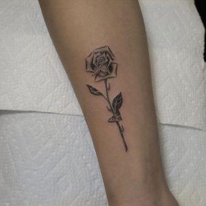 Illustrative tattoo by Jesus Antonio #JesusAntonio #illustrative #fineline #chicano #blackandgrey