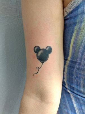 Balloon Mickey #mickey #tattoo #black #disney