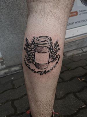 Coffee tattoo 🤠