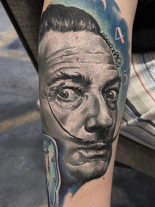 Salvador Dali , small portrait