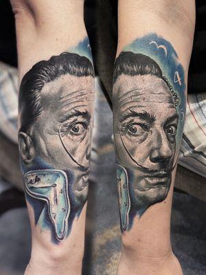 Salvador Dali , small portrait , all part