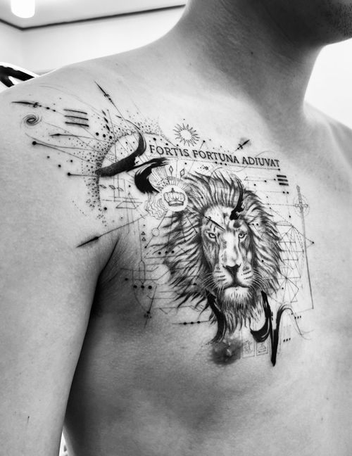 A lion… work in progress.
